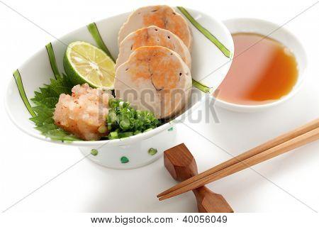 ankimo, steamed monkfish liver, japanese cuisine poster