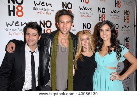 LOS ANGELES - DEC 12:  Freddie Smith, Blake Berris, Kristen Alderson, Camila Banus arrive to the NOH8 4th Anniversary Party at Avalon on December 12, 2012 in Los Angeles, CA