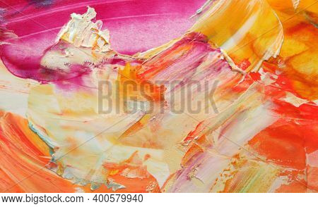 Art Abstract acrylic and watercolor relief smear blot painting. Color horizontal texture background.