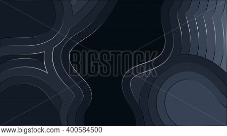 Fluid Wavy Abstract Vector Background Design With Glowing Lines. Depth Texture Illustration