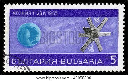 Soviet Satellite  Molnia 1 , Lightning 1