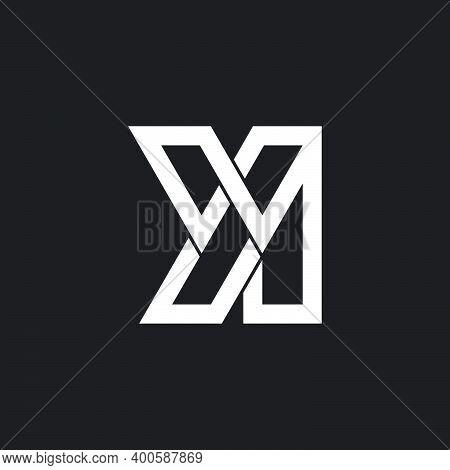 Letter Yi Simple Geometric Line Linked Logo Vector
