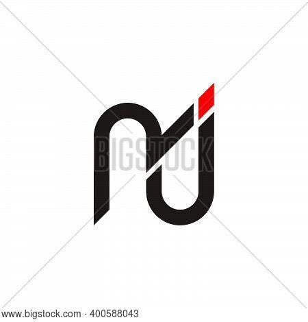 Letter Nj Symbol Logo Vector Geometric Simple Design