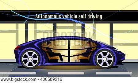 Autonomous Vehicle Self Driving, Driverless Smart Car