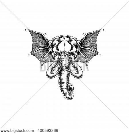 Silhouette Beast Elephantclipart  For Your Work Logo Merchandise T-shirt, Stickers And Label, Poster