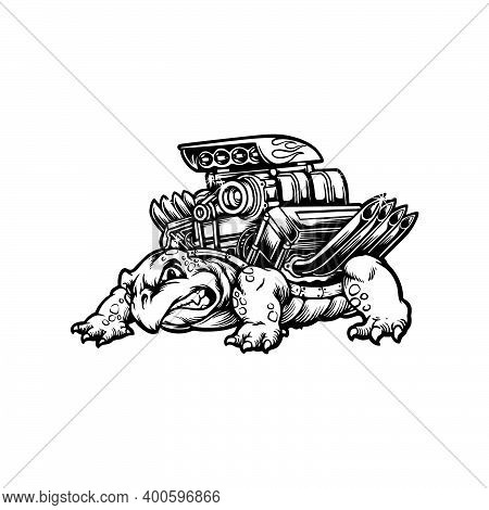 Silhouette Turtle  Clipart  For Your Work Logo Merchandise T-shirt, Stickers And Label, Poster, Gree