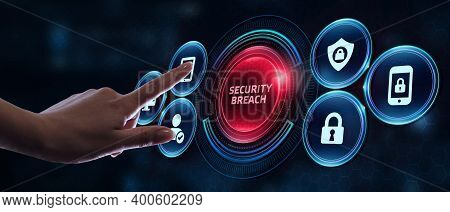 Cyber Security Data Protection Business Technology Privacy Concept. Security Breach