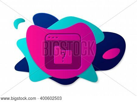 Color File Missing Icon Isolated On White Background. Abstract Banner With Liquid Shapes. Vector
