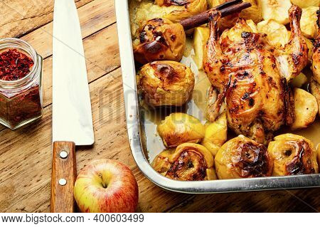 Baked Partridge With Apple