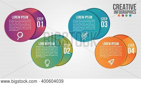 Infographic Modern Timeline Design Vector Template For Business With 4 Steps Or Options Illustrate A