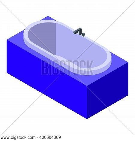 Modern Bathtub Icon. Isometric Of Modern Bathtub Vector Icon For Web Design Isolated On White Backgr