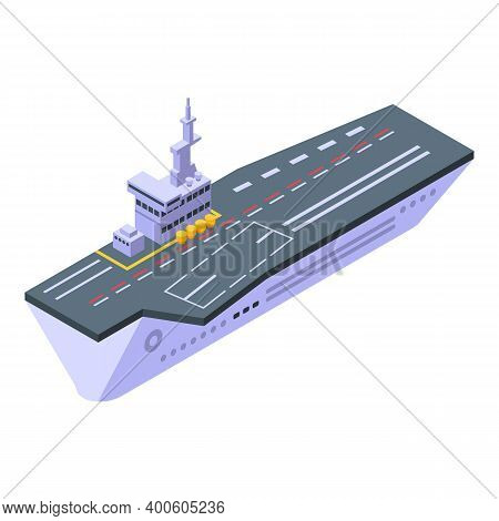 Force Aircraft Carrier Icon. Isometric Of Force Aircraft Carrier Vector Icon For Web Design Isolated