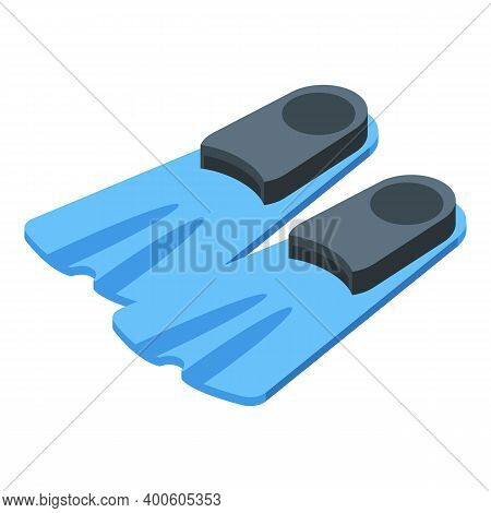 Diving Flippers Icon. Isometric Of Diving Flippers Vector Icon For Web Design Isolated On White Back