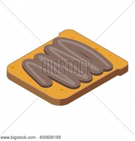 Chocolate Paste Sandwich Icon. Isometric Of Chocolate Paste Sandwich Vector Icon For Web Design Isol