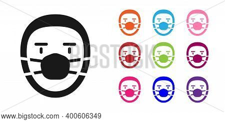 Black Doctor Pathologist Icon Isolated On White Background. Set Icons Colorful. Vector