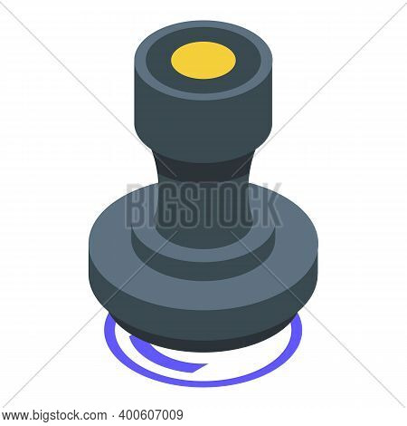 Monetization Stamp Icon. Isometric Of Monetization Stamp Vector Icon For Web Design Isolated On Whit