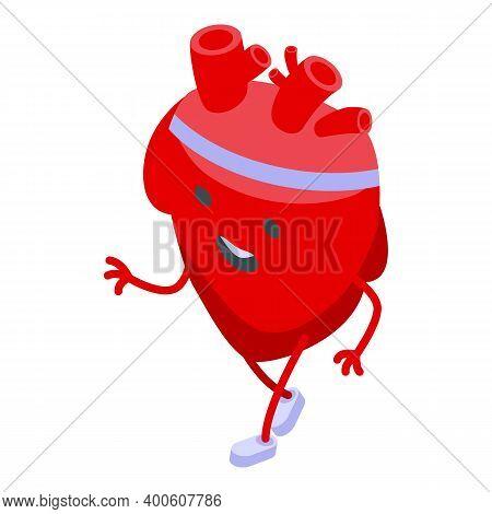 Sportsmen Heart Icon. Isometric Of Sportsmen Heart Vector Icon For Web Design Isolated On White Back