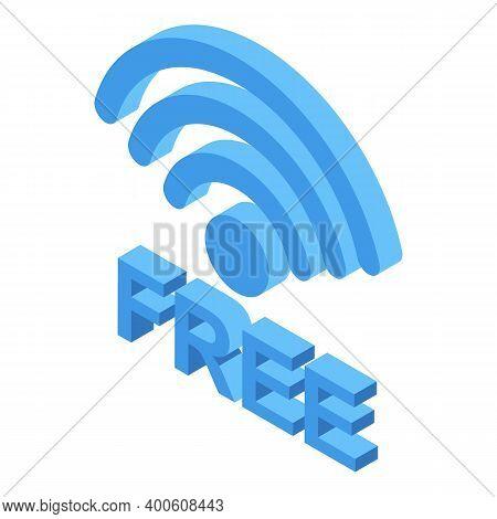 Free Wifi Zone Symbol Icon. Isometric Of Free Wifi Zone Symbol Vector Icon For Web Design Isolated O