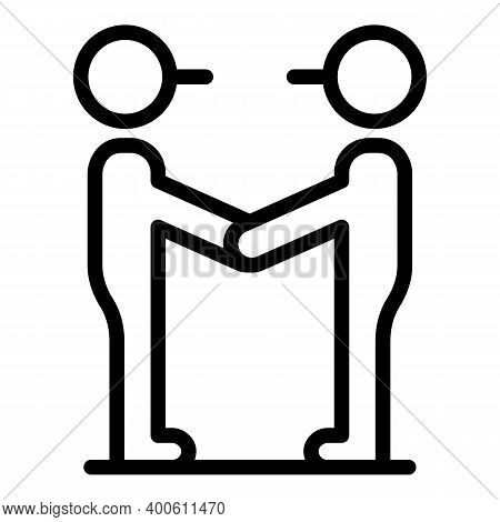 Handshake Friend Discussion Icon. Outline Handshake Friend Discussion Vector Icon For Web Design Iso