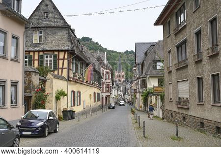City View Of Bacharach, A Town In The Mainz-bingen District In Rhineland-palatinate, Germany