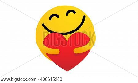 Face Icons Emoji, Heart Emotions. Care. User Experience Happy. Love Eyes Emoticons.vector Isolated F
