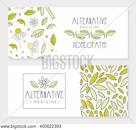 Alternative Medicine Banner Templates Set, Homeopathy, Naturopathy, Holistic Medicine Banner, Flyer,
