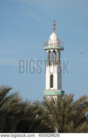 Egypt, Hurghada 17,01,2009 Minaret Against The Blue Sky, Egypt