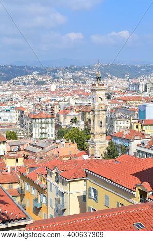 France. Top-view Of Nice In A Sunny Summer Day