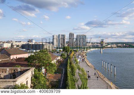Belgarde, Serbia - May 31, 2020: Panorama Of The Construction Of Belgrade Waterfront, Or Beograd Na