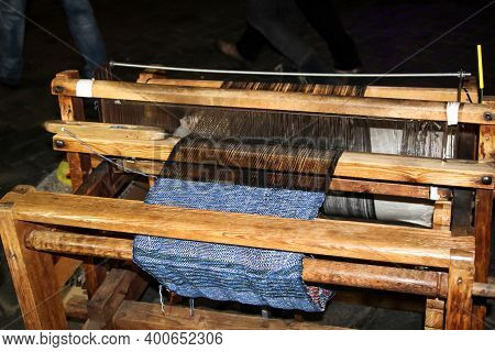 A Detail View Of An Old Loom.