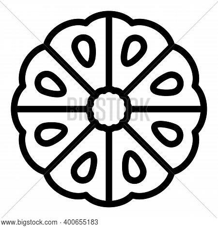Tropical Bergamot Icon. Outline Tropical Bergamot Vector Icon For Web Design Isolated On White Backg