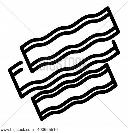 Bacon Barbecue Icon. Outline Bacon Barbecue Vector Icon For Web Design Isolated On White Background
