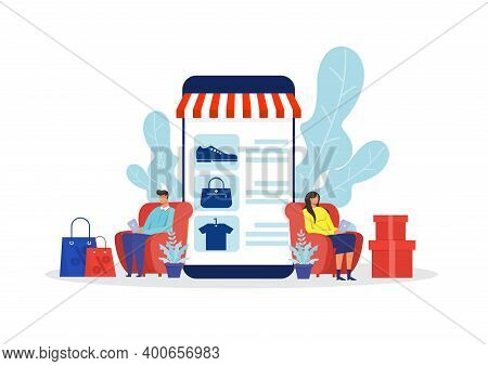 Woman And Man Shop Online Stor, Promo Purchase Marketing