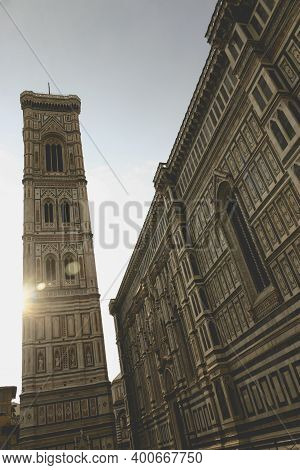 Florence, Italy - April 26, 2006: Detail Of The Immense Florence Cathedral, Or Duomo Di Firenze, And