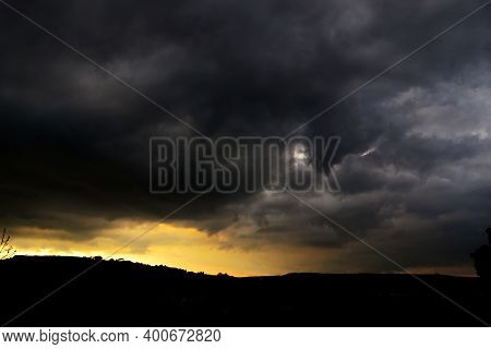 Storm Clouds At Sunset. Storm Clouds. Storm