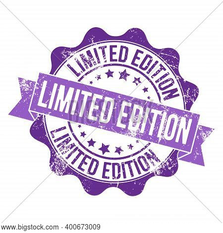 Limited Edition. Stamp Impression With The Inscription. Old Worn Vintage Stamp. Stock Vector Illustr