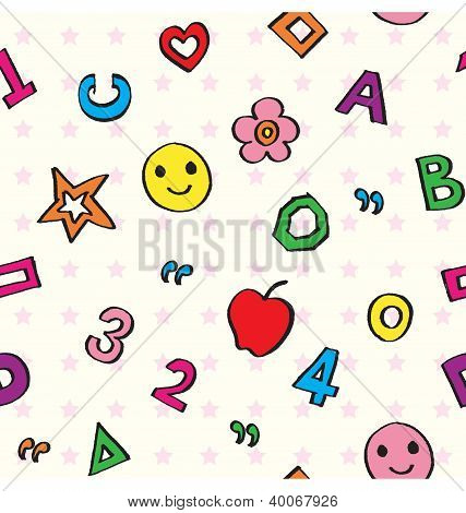 Kids Alphabets Seamless Pattern