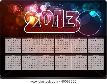 New year 2013 design/ calender, vector