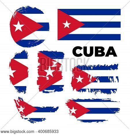 Flag Of Cuba Page Symbol For Your Web Site Design Cuba Flag Logo, App, Ui.
