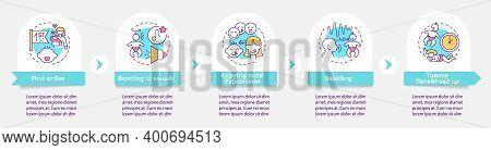 Early Sensory Development In Child Vector Infographic Template. Childcare Presentation Design Elemen