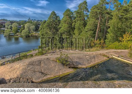 Finland, Kotka 17,08,2019  Cityscape Of Kotka. Beautiful View Of The City From The Water Park
