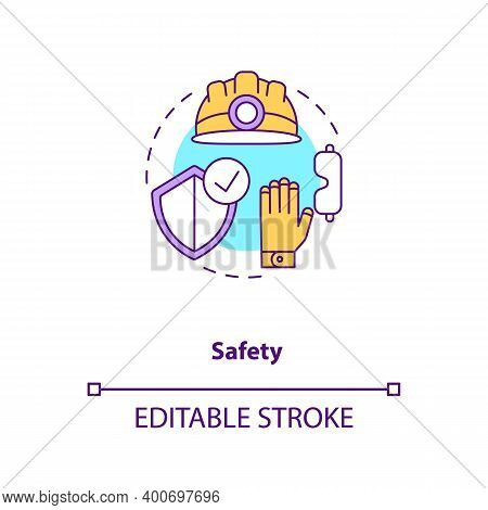 Safety Concept Icon. Health Insurance And Protection For Engineer, Builder. Contractor Ppe. Civil En