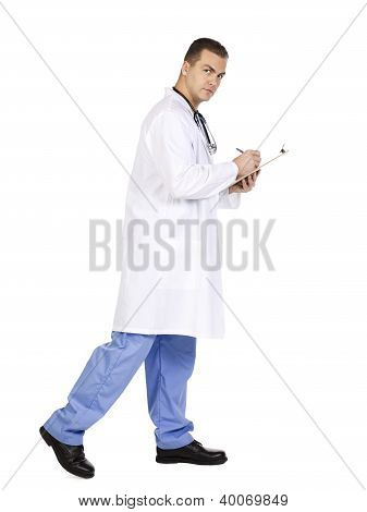 Doctor In His Clipboard