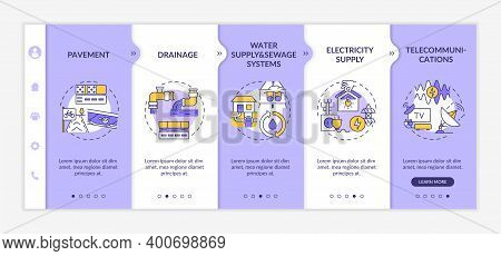 Utility System And Facility Service Onboarding Vector Template. Electricity Supply. Telecommunicatio