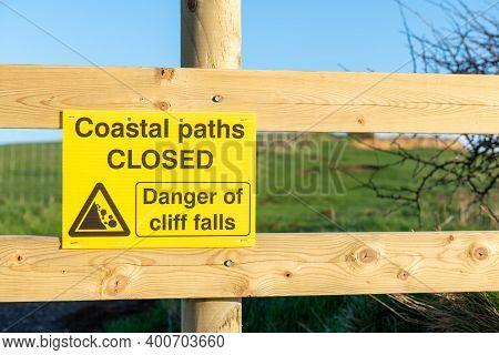 Landslide Warning Sign