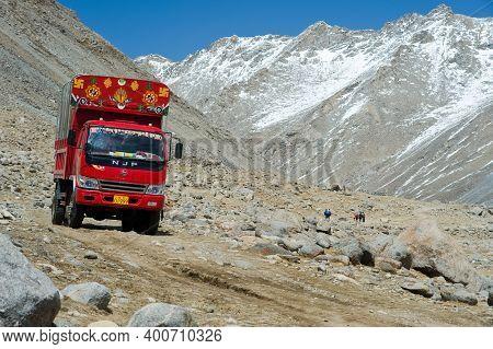 Naku, Nepal - June 23, 2016: Mountains Of The Himalayas, Young Beautiful High Mountains Of Tibet.