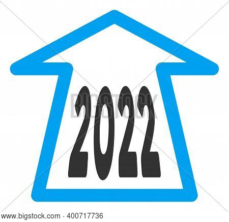 Raster 2022 Ahead Arrow Illustration. An Isolated Illustration On A White Background.