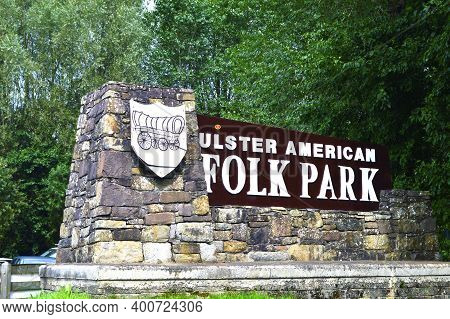 Omagh, County Tyrone, Northern Ireland, Sep., 2017.  Ulster American Folk Park In Northern Ireland.