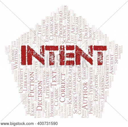 Intent Typography Word Cloud Create With Text Only