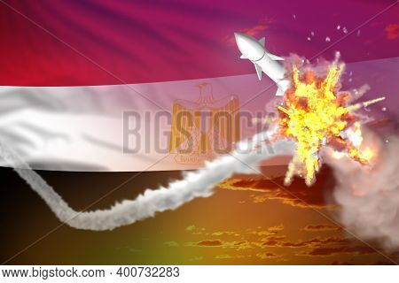 Strategic Rocket Destroyed In Air, Egypt Ballistic Warhead Protection Concept - Missile Defense Mili